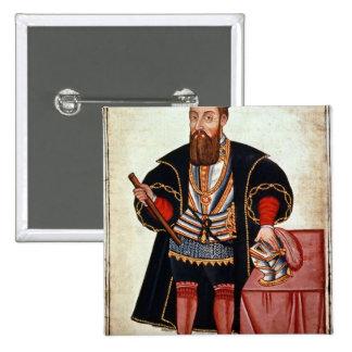 Vasco da Gama , illustration 15 Cm Square Badge