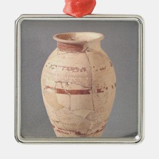 Vase, 4th-3rd century BC Silver-Colored Square Decoration