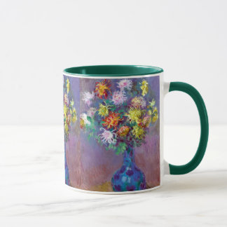 Vase de Chrysanthemes Flowers Monet Fine Art Mug