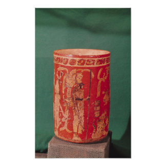 Vase depicting a ceremonial scene, Tepeu 1 Period Poster