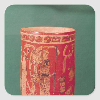 Vase depicting a ceremonial scene, Tepeu 1 Period Square Sticker