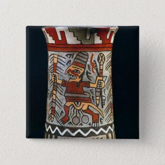 Vase depicting a farming scene 15 cm square badge