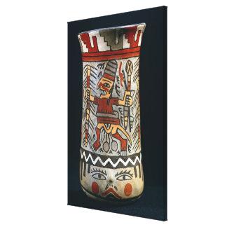 Vase depicting a farming scene canvas print