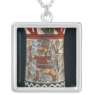 Vase depicting a farming scene necklaces