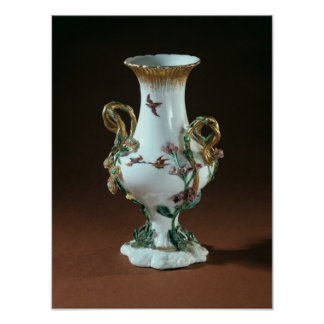 Vase Duplessis' with gold decoration Poster