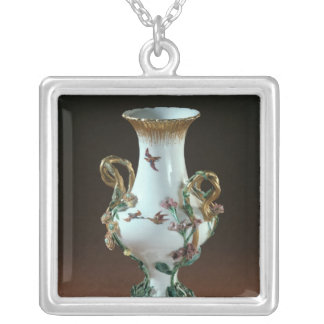 Vase Duplessis' with gold decoration Silver Plated Necklace
