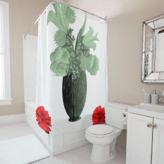 Vase floral shower curtain