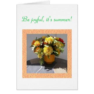 Vase full of Marigolds Greeting Card