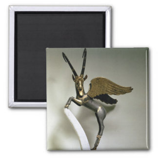 Vase handle in the form of a winged ibex, Achaemen Square Magnet