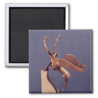 Vase handle in the form of a winged ibex fridge magnet