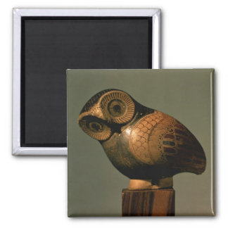 Vase in the form of an owl, Proto-Corinthian Square Magnet