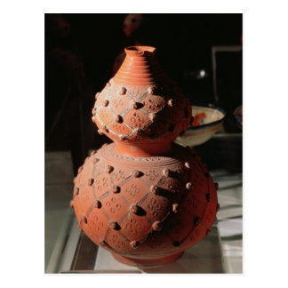 Vase in the shape of a gourd postcard