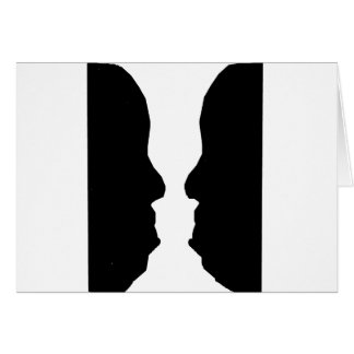Vase Man Optical Illusion Card