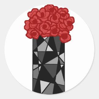 Vase n flowers stickers