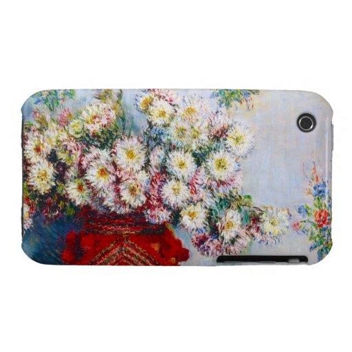 Vase of Chrysanthemums Claude Monet Case-Mate iPhone 3 Cases