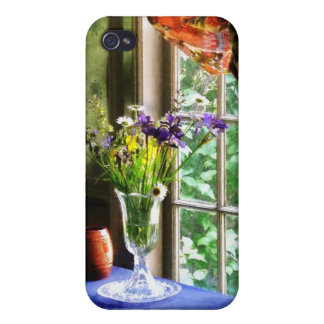 Vase of Flower and Mug By Window iPhone 4 Cases