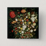 Vase of Flowers 15 Cm Square Badge