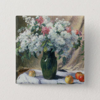 Vase of flowers 15 cm square badge