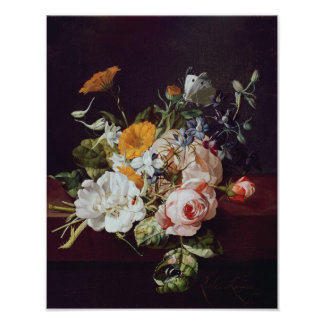 Vase of Flowers, 1695 Poster