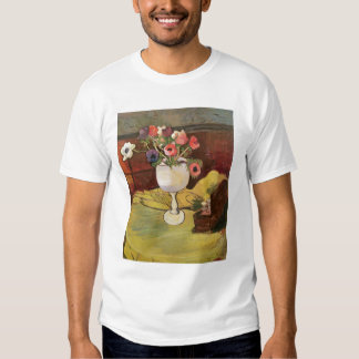 Vase of Flowers, Anemones in a White Glass Tee Shirts