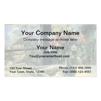 Vase of Flowers at the Window - 1881 Pack Of Standard Business Cards