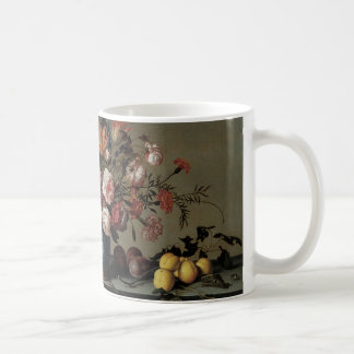 Vase of Flowers by a Window, Balthasar van der Ast Basic White Mug