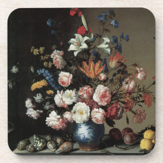 Vase of Flowers by a Window, Balthasar van der Ast Coaster