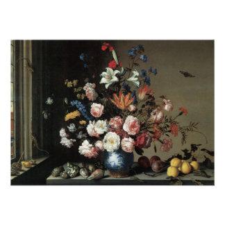 Vase of Flowers by a Window, Balthasar van der Ast Custom Invitation
