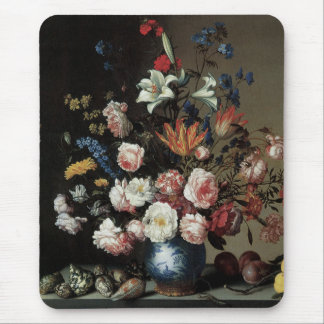 Vase of Flowers by a Window, Balthasar van der Ast Mouse Pad