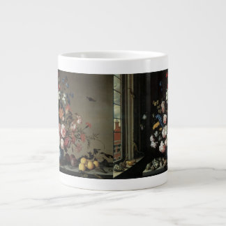 Vase of Flowers by a Window Balthasar van der Ast Extra Large Mugs