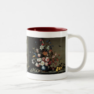 Vase of Flowers by a Window, Balthasar van der Ast Two-Tone Mug