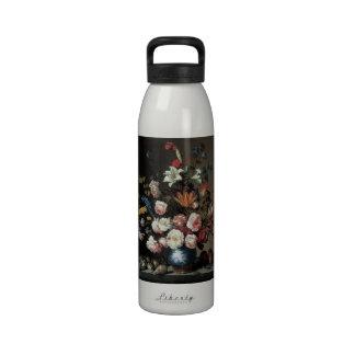 Vase of Flowers by a Window, Balthasar van der Ast Reusable Water Bottle