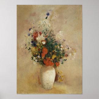 Vase of Flowers, Odilon Redon Poster