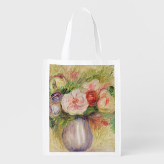 Vase of Flowers (oil on canvas) Market Totes