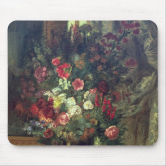 Vase of Flowers on a Console 1848-49 Mousepads