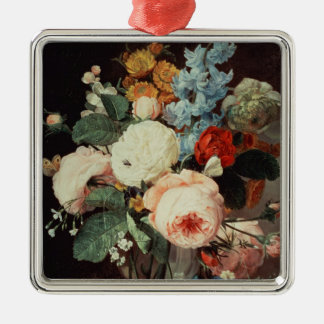 Vase of Flowers on a marble ledge Christmas Ornament
