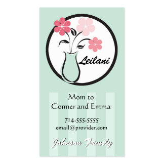 Vase of Flowers Profile Card Business Card Template