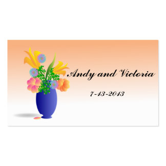 Vase of Flowers Thank You Card Pack Of Standard Business Cards