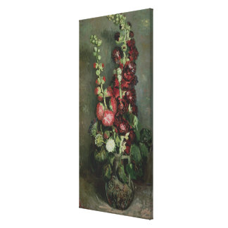 Vase of Hollyhocks 1886 Gallery Wrapped Canvas