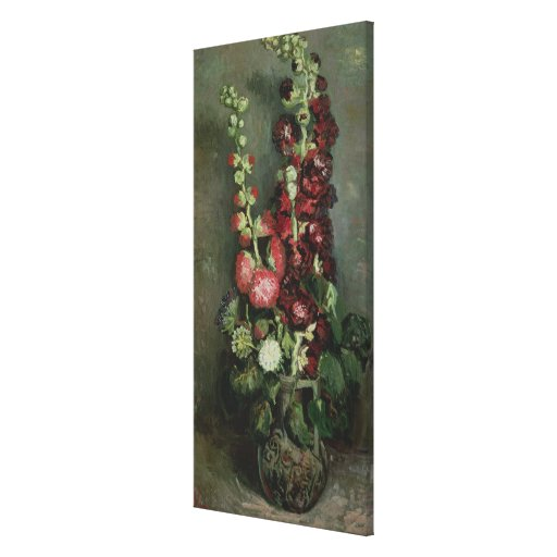 Vase of Hollyhocks, 1886 Gallery Wrapped Canvas