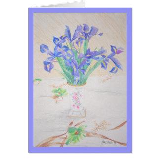 Vase of Irises Card