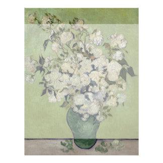 Vase of Roses by Vincent Van Gogh Flyer Design