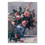 Vase of Roses Greeting Cards