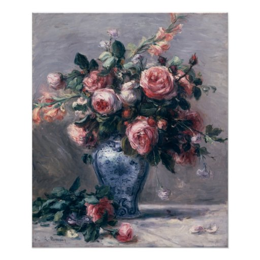 Vase of Roses Poster