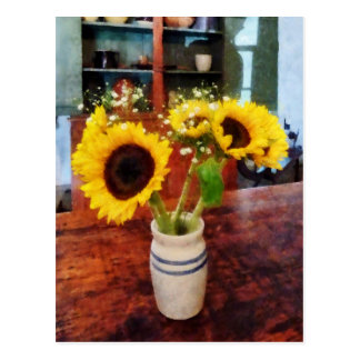 Vase of Sunflowers Post Card
