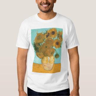 Vase with 12 Sunflowers by Van Gogh Vintage Flower Tshirt
