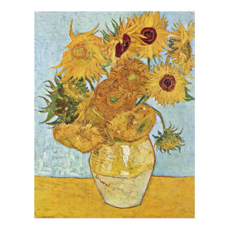 Vase With 12 Sunflowers By Vincent Van Gogh 21.5 Cm X 28 Cm Flyer