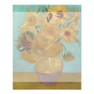Vase with 12 Sunflowers by Vincent Van Gogh 11.5 Cm X 14 Cm Flyer