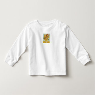 Vase with 12 Sunflowers by Vincent Van Gogh Toddler T-Shirt
