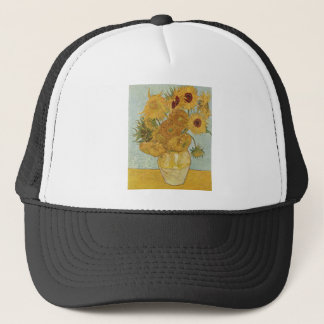 Vase with 12 Sunflowers Trucker Hat